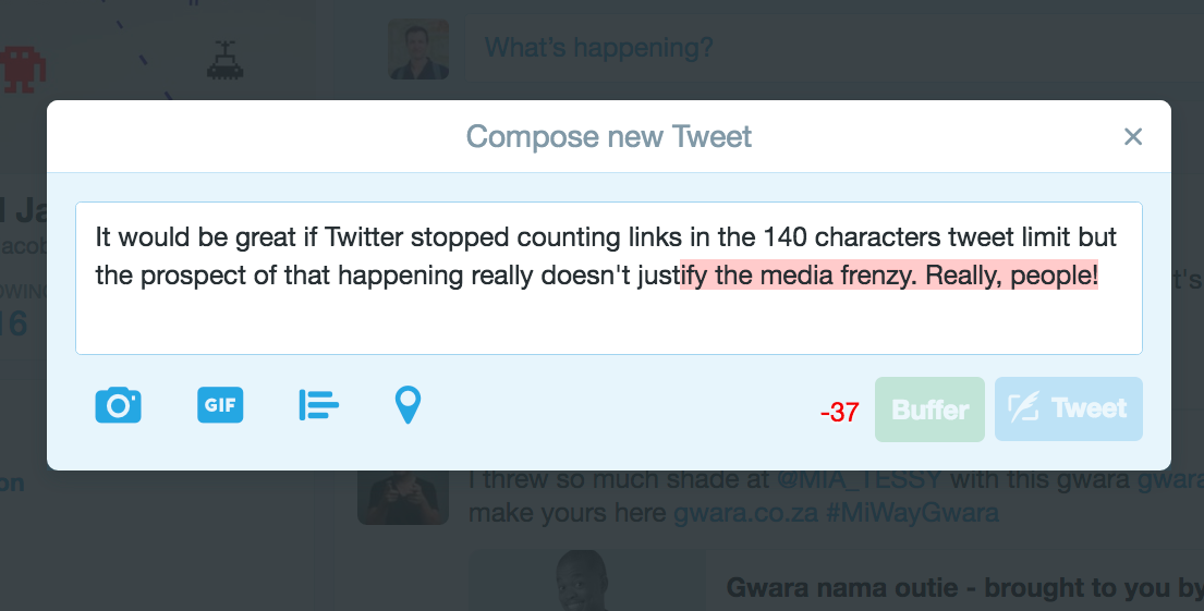 When 140 characters are not enough to rant